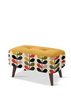 Orla Kiely Donegal Stool with Walnut Feet