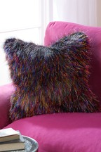 Mixed Metallic Faux Fur Cushion