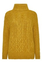 F&F Yellow Madison Cable Gold Jumper