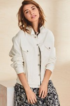 Superdry White Denim Trucker Jacket