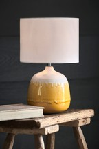 Ochre Ceramic Table Lamp