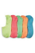 Bright Invisible Trainer Socks Five Pack