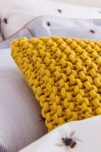 Joules Galley Knitted Cushion