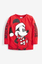 Kids Matching Family Mickey Mouse™ Christmas Long Sleeve T-Shirt (3mths-16yrs)