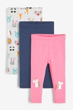 3 Pack Unicorn Embellished Leggings (3mths-8yrs)
