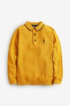 Textured Knitted Polo (3-16yrs)