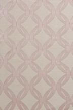 Manhattan Pink Woven Geo Curtains Fabric Sample