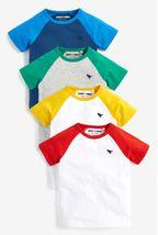 4 Pack Raglan Sleeve T-Shirts (3mths-7yrs)