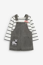 Zebra Pinafore, T-Shirt And Socks Set (3mths-7yrs)
