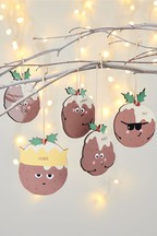 Personalised Pudding Hanging Decoration by Oakdene Designs
