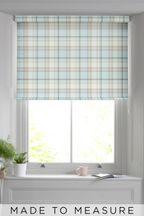 Made To Measure Teal Marlow Check Roller Blind