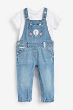 Bear Pocket Dungarees And T-Shirt Set (3mths-7yrs)