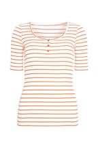 F&F Multi Basic Rib Henley Stripe T-Shirt