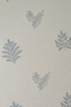 Embroidered Leaf Curtains Fabric Sample