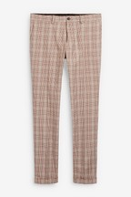 Cotton Check Trousers