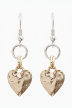 Heart Charm Drop Earrings