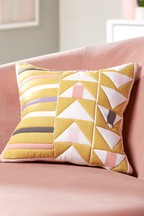 Geo Quilted Cushion