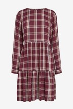 Tiered Check Dress