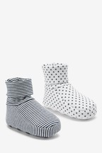 2 Pack Cotton Rich Booties (0-18mths)