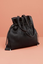 Ribbed Duffle Shoulder Bag