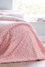 Rose Ruffle Throw