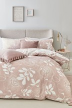Stencil Floral Duvet Cover And Pillowcase Set