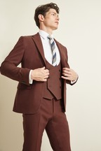 Moss London Slim Fit Copper Unstructured Jacket