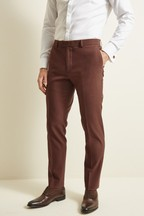 Moss London Slim Fit Copper Unstructured Trousers