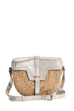 Leather And Jute Mix Saddle Bag