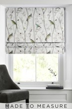 Chinoiserie Bird Trail Natural Made To Measure Roman Blind