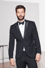Tollegno Signature Tuxedo Slim Fit Suit: Jacket