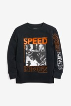 Long Sleeve Motocross T-Shirt (3-16yrs)