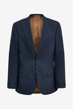 Moss 1851 Tailored Fit Navy/Gold Check Jacket