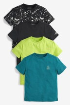 4 Pack Short Sleeve T-Shirts (3-16yrs)