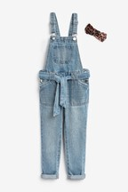 Tie Waist Dungarees With Headband (3-16yrs)