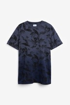 Dip Dye Skull Print Regular Fit T-Shirt
