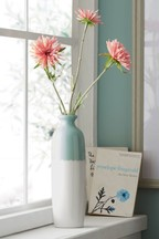 Artificial Coral Floral in Tall Vase