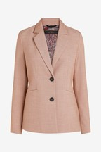 Sharkskin Texture Tailored Jacket