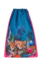 Monsoon Floral Leopard Drawstring Backpack