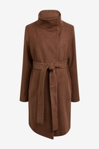 Maternity Belted Wrap Coat
