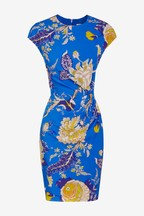 Whistles Blue Floral Bodycon Dress