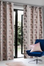 Optical Geo Pink Made To Measure Curtains