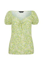 F&F Green Floral Tea Top