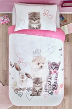 Pretty Pets Duvet Cover And Pillowcase Set