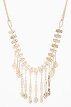 Metal Fringe Statement Necklace
