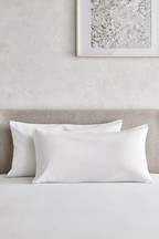 Set of 2 Cotton Rich Super King Pillowcases