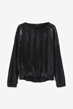 Sparkle Sequin Long Sleeve Top