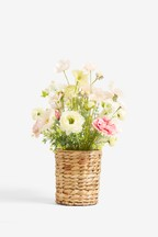 Artificial Poppy Mix In Basket