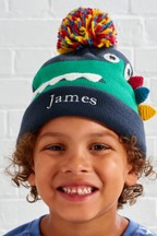 Personalised Crocodile Beanie And Mittens Set