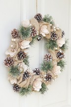 Country Jute Winter Wreath by Dibor